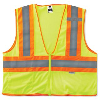 Ergodyne 21325 8230Z L/XL Lime Type R Class 2 Two-Tone Vest
