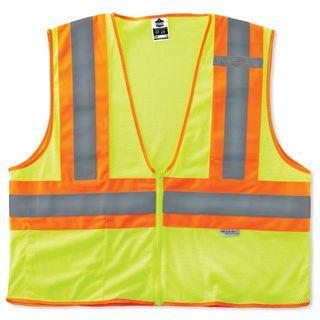 Ergodyne 21329 8230Z 4XL/5XL Lime Type R Class 2 Two-Tone Vest