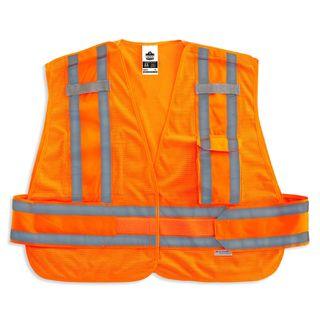 Ergodyne 21362 8244PSV XL/2XL Orange Type P Class 2 Expandable Public Safety Vest