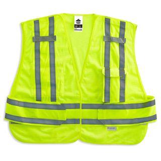 Ergodyne 21366 8244PSV XL/2XL Lime Type P Class 2 Expandable Public Safety Vest