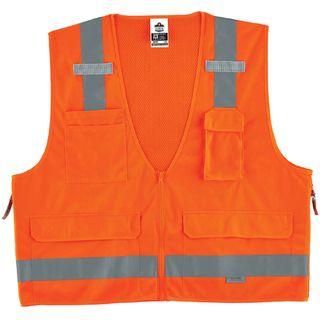 Ergodyne 21417 8250Z 2XL/3XL Orange Type R Class 2 Surveyors Vest
