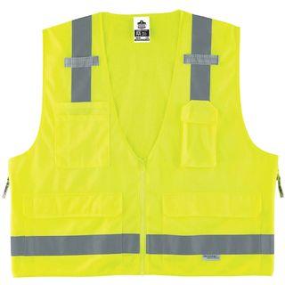 Ergodyne 21429 8250Z 4XL/5XL Lime Type R Class 2 Surveyors Vest