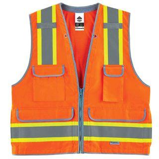 Ergodyne 21459 8254HDZ 4XL/5XL Orange Type R Class 2 Heavy-Duty Surveyors Vest