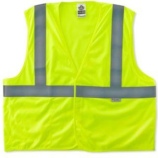 Ergodyne 21473 8255HL S/M Lime Type R Class 2 Treated Poly Vest