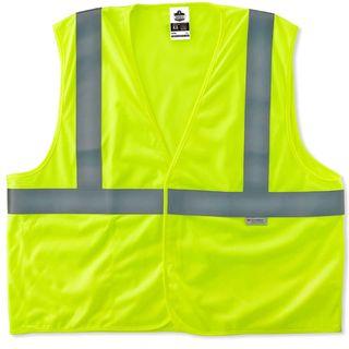 Ergodyne 21475 8255HL L/XL Lime Type R Class 2 Treated Poly Vest