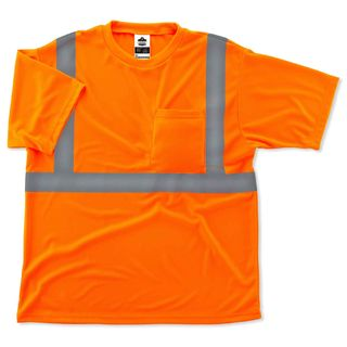 Ergodyne 21518 8289 4XL Orange Type R Class 2 T-Shirt