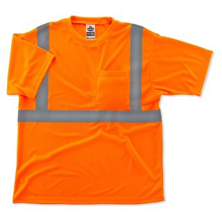 Ergodyne 21519 8289 5XL Orange Type R Class 2 T-Shirt