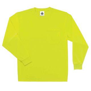 Ergodyne 21588 8091 4XL Lime Non-Certified Long Sleeve T-Shirt