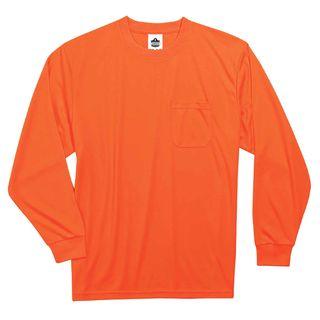 Ergodyne 21598 8091 4XL Orange Non-Certified Long Sleeve T-Shirt
