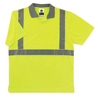 Ergodyne 21644 8295 L Lime Type R Class 2 Polo Shirt
