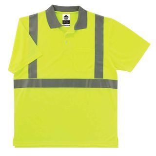 Ergodyne 21647 8295 3XL Lime Type R Class 2 Polo Shirt