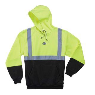 Ergodyne 21687 8293 3XL Lime Type R Class 2 Black Front Hooded Sweatshirt