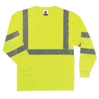 Ergodyne 21707 8391 3XL Lime Type R Class 3 Long Sleeve T-Shirt