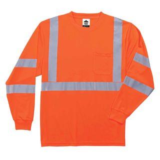 Ergodyne 21717 8391 3XL Orange Type R Class 3 Long Sleeve T-Shirt