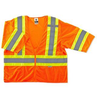 Ergodyne 22177 8330Z 2XL/3XL Orange Type R Class 3 Two-Tone Vest