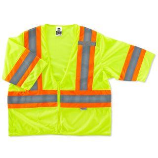 Ergodyne 22187 8330Z 2XL/3XL Lime Type R Class 3 Two-Tone Vest