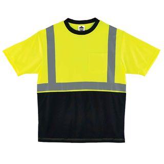 Ergodyne 22507 8289BK 3XL Lime Type R Class 2 Black Front T-Shirt