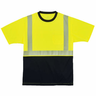 Ergodyne 22537 8280BK 3XL Lime Type R Class 2  Black Front Performance T-Shirt