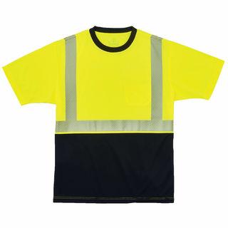 Ergodyne 22538 8280BK 4XL Lime Type R Class 2  Black Front Performance T-Shirt