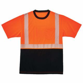 Ergodyne 22587 8280BK 3XL Orange Type R Class 2  Black Front Performance T-Shirt