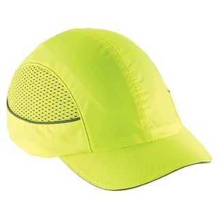 Ergodyne 23377 8960 Short Brim Lime Bump Cap w/ LED Lighting Technology
