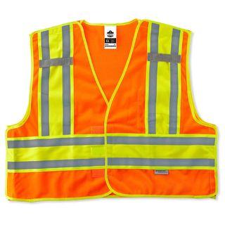 Ergodyne 23390 8245PSV 6XL/7XL Orange Type P Class 2 Public Safety Vest