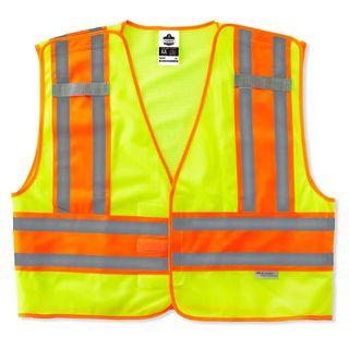 Ergodyne 24000 8245PSV 6XL/7XL Lime Type P Class 2 Public Safety Vest