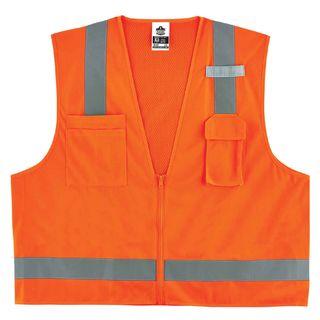 Ergodyne 24015 8249Z L/XL Orange Type R Class 2 Economy Surveyors Vest