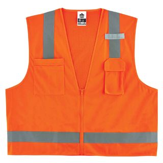 Ergodyne 24019 8249Z 4XL/5XL Orange Type R Class 2 Economy Surveyors Vest