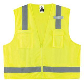 Ergodyne 24029 8249Z 4XL/5XL Lime Type R Class 2 Economy Surveyors Vest