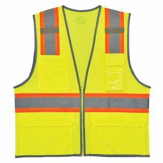 Ergodyne 24143 8246Z S/M Lime Type R Class 2 Two-Tone Mesh Vest w/ Reflective