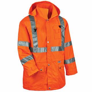 Ergodyne 24318 8365 4XL Orange Type R Class 3 Rain Jacket