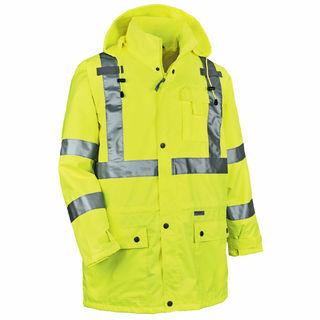 Ergodyne 24328 8365 4XL Lime Type R Class 3 Rain Jacket