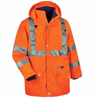 Ergodyne 24379 8385 5XL Orange Type R Class 3 4-in-1 Jacket