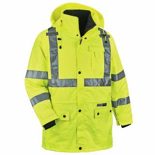 Ergodyne 24389 8385 5XL Lime Type R Class 3 4-in-1 Jacket