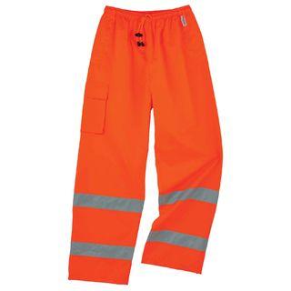 Ergodyne 24418 8915 4XL Orange Class E Rain Pants