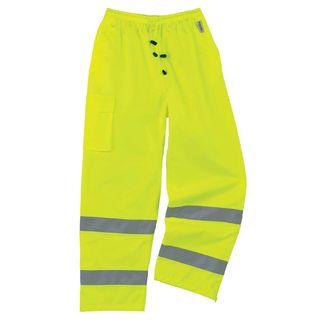 Ergodyne 24428 8915 4XL Lime Class E Rain Pants