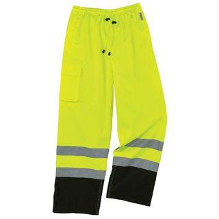 Ergodyne 25427 8915BK 3XL Lime Class E Black Bottom Rain Pants