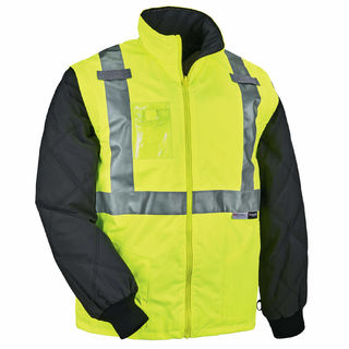 Ergodyne 25497 8287 3XL Lime Type R Class 2 Convertible Thermal Jacket