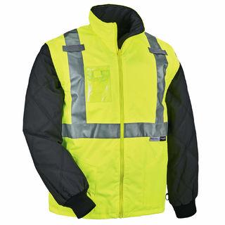 Ergodyne 25498 8287 4XL Lime Type R Class 2 Convertible Thermal Jacket