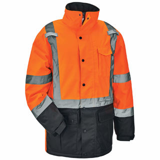 Ergodyne 25577 8384 3XL Orange Type R Class 3 Thermal Parka