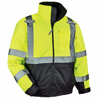 Ergodyne 25627 8377 3XL Lime Type R Class 3 Quilted Bomber Jacket