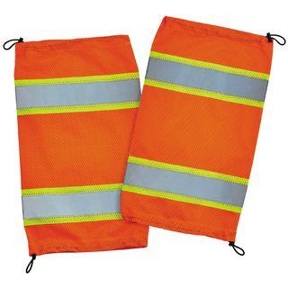 Ergodyne 29091 8009  Orange Class E Two-Tone Mesh Leg Gaiters