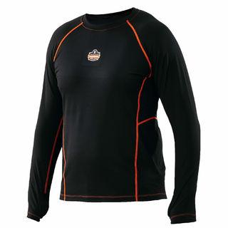 Ergodyne 40204 6435 L Black Thermal Base Layer Long Sleeve Shirt