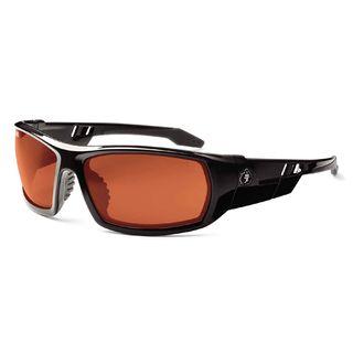 Ergodyne 50020 ODIN Copper Lens Black Safety Glasses