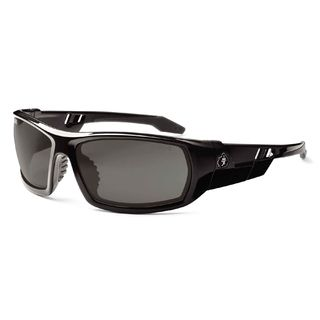 Ergodyne 50033 ODIN Anti-Fog Smoke Lens Black Safety Glasses