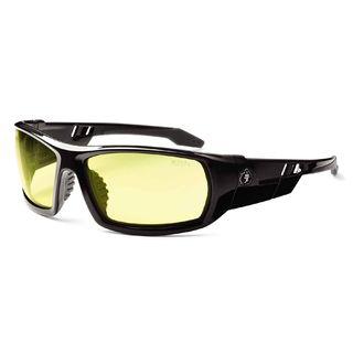Ergodyne 50050 ODIN Yellow Lens Black Safety Glasses
