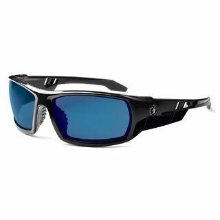 Ergodyne 50092 ODIN Blue Mirror Lens Black Safety Glasses