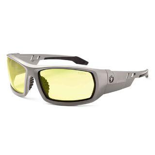 Ergodyne 50150 ODIN Yellow Lens Matte Gray Safety Glasses