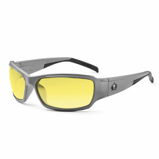 Ergodyne 51150 THOR Yellow Lens Matte Gray Safety Glasses